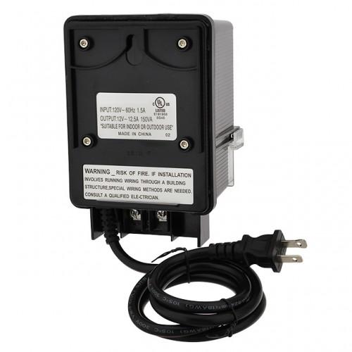 12V AC 150-Watt Landscape Lighting Transformer with Photo ...